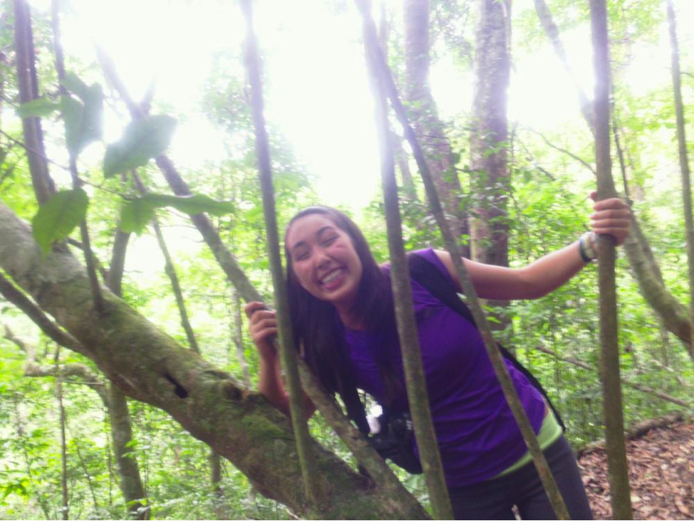 Junior Mary Jade Farruggia wades through the mangrove forests of Monteverde, Costa Rica. Photo courtesy of Mary Jade Farrugia.