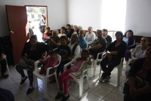 Ensenada clinic patients in the waiting room. | Photo by Flying Samaritans.