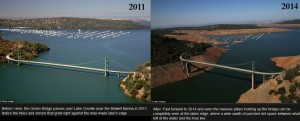Lake Oroville before and after the drought